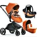 O envio gratuito de couro pouch alta ponto de vista paisagem buggiest carro do bebê carrinho de bebê carrinho de criança carrinho de bebê forma de ovo