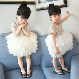 Image 3 - Boutique toddler girls lace dress children evening dress luxury baby 12M 6years tweed fabric gauze dress kids cake dresses