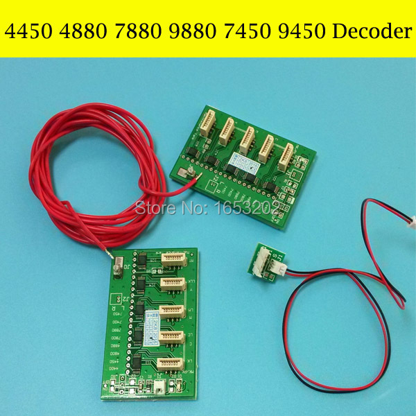 Best chip decoder For Epson Stylus PRO 4450/4880/7450/7880/9880/9450 printer chip decoder card original new dx5 cap top station for epson stylus pro 7400 7450 7800 7880 9450 9800 9880 inkjet printer ink pump clean unit