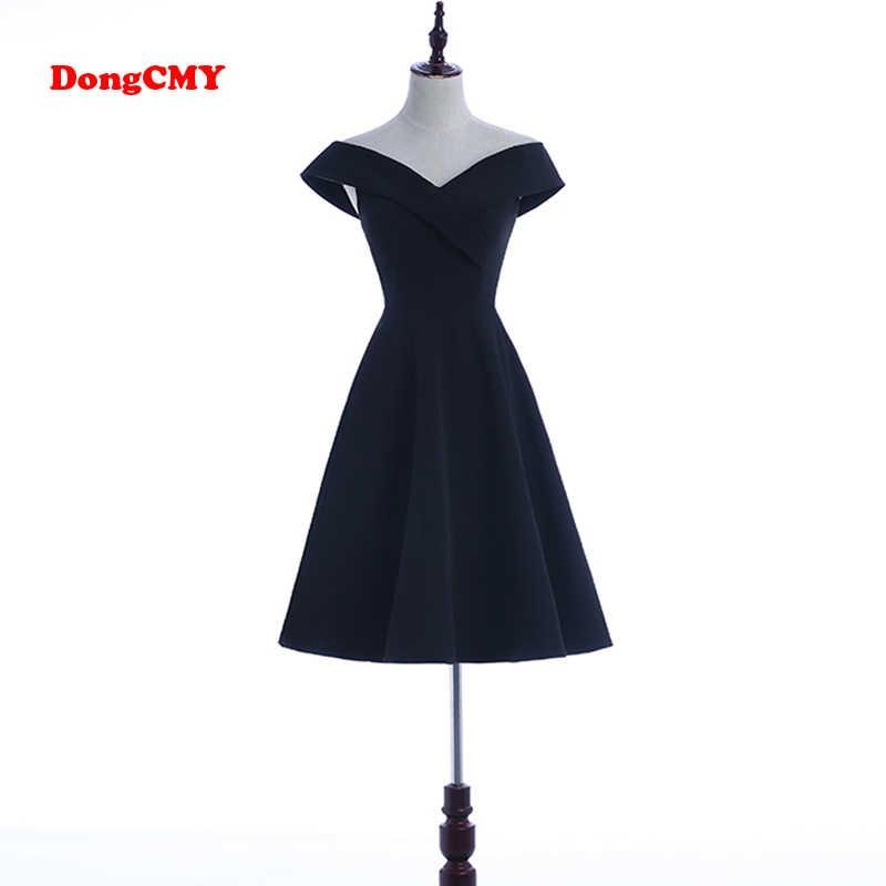 124f8f8ba4c55 DongCMY Black Prom dress 2019 new arrival fashion Asymmetrical short ...