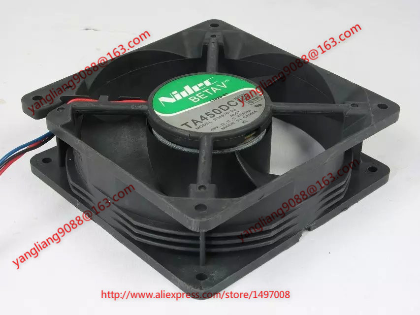 Free Shipping For Nidec B34578-26, ALC1  DC 48V 0.25A 3-wire 3-pin connector 120mm 120x120x38mm Server Cooling Square fan free shipping for nidec u80t24mua7 53j24 dc 24v 0 09a 80x80x25mm 3 wire server square cooling fan