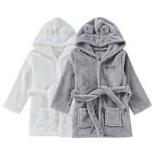 Детский банный халат для детей от 3 до 2 лет, фланелевые пижамы на бретелях для мальчиков и девочек милый детский домашний халат детский халат Albornoces# YL1