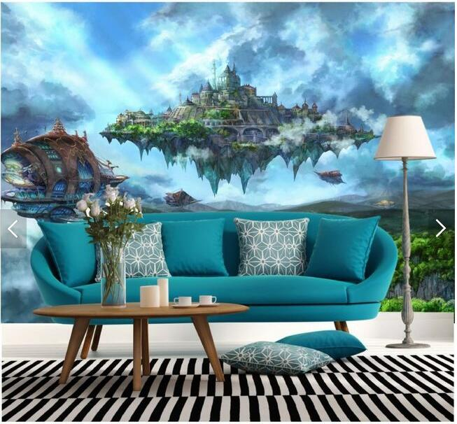 Free shipping TV backdrop wall paper bedroom living room European-style mural wallpaper Magic Crystal Empire 3d  wallpaper sean mcfate the modern mercenary