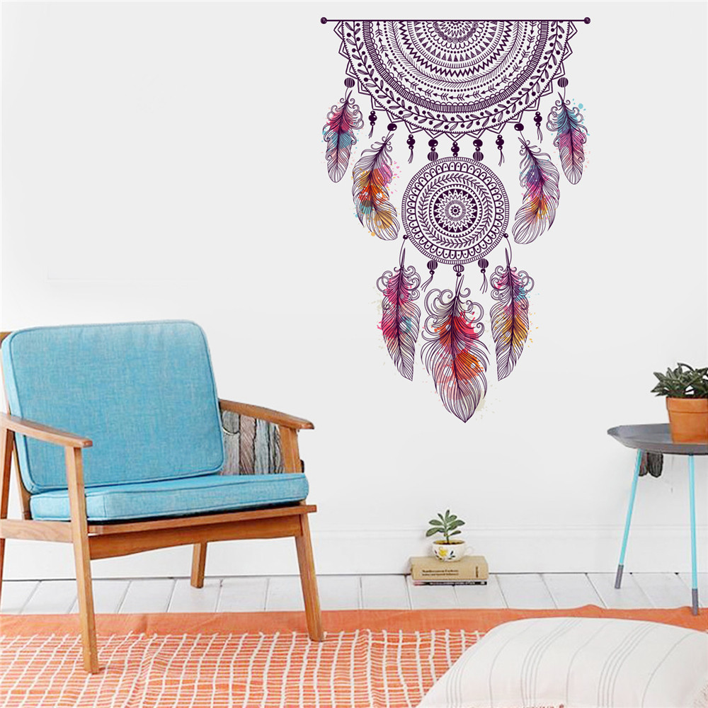 Cool Wallpaper Marble Mandala - Mandala-Feathers-3D-Wallpaper-Wall-Stickers-DIY-Cartoon-House-Removable-Wall-Decal-Family-Home-Sticker-Mural  Snapshot_616896.jpg