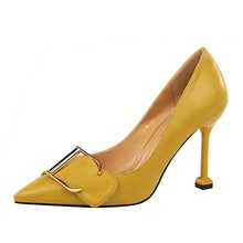 D&Henlu Woman Shoes Autumn Yellow Women Pumps