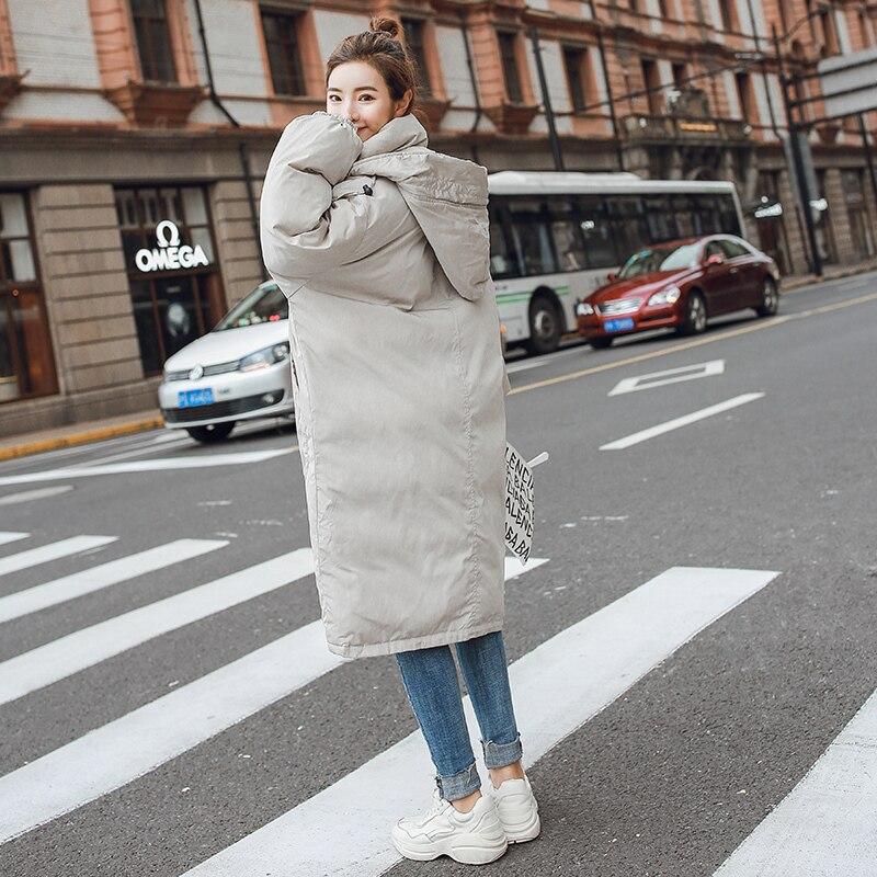 Plus Chaud À Capuche Épais Coton Casual Rembourré Yz825 Taille Mujer Parkas Veste Femmes Col La Casacas Haut Beige Hiver Para Froid Manteaux 2018 d7OSz8d