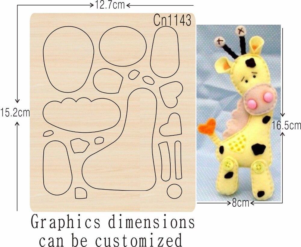Girafe produits de couture nouveaux moules de coupe en bois pour scrapbooking Thickness 15.8mm-in Matrices à découper from Maison & Animalerie    1