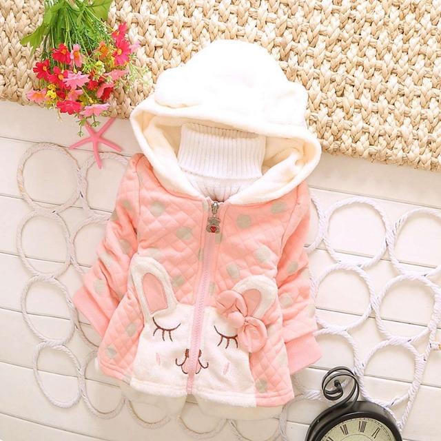 Otoño invierno bebé bebés lindo Hoody con capucha de punto de polca arco sudaderas chaquetas de la rebeca Outwear abrigos con tapa S2182