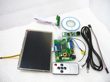 """Free shipping DIY 7"""" Inch HSD070PWWI-B01 LCD Panel + LCD Controller board + Touch Screen + Remote"""
