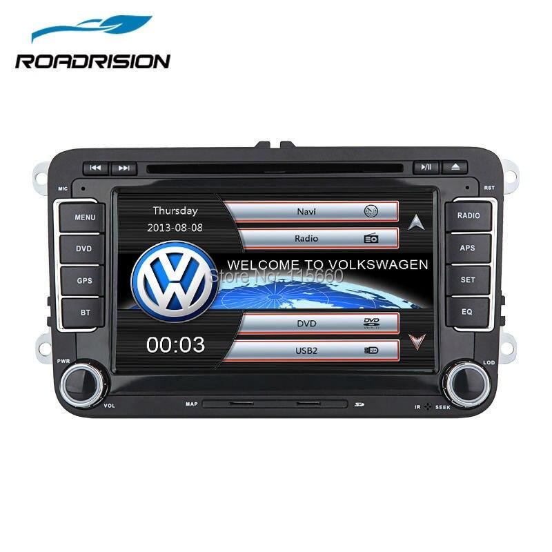 imágenes para 2Din de dvd del coche de navegación gps para VW Volkswagen Jetta Bora Golf 5 6 Tiguan Passat CC Polo Sharan Amarok Caddy con Una Función de Canbus