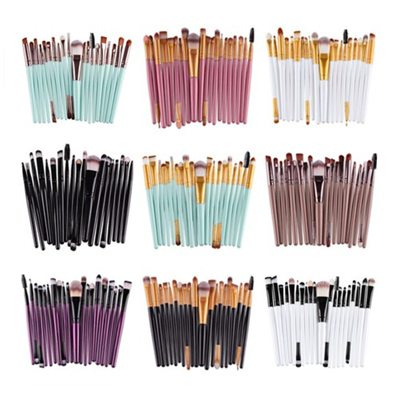 Professional 20 Pcs Eye Shadow Foundation Eyebrow Eyeliner Lip Brush Makeup Brushes Comestic Tool Make Up Eye Brush Set универсал усп песочный