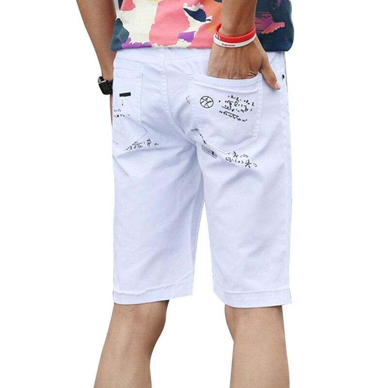 Large Size Men Hole Denim Shorts Male Short Jeans 2018 New Summer Casual Black Short Jeans Short Pants Plus Size