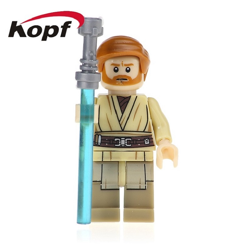 20Pcs Building Blocks Super Heroes Star Wars Obi Wan Kenobi With Lightsaber Palpatine Qilu Special Bricks Children Toys PG665