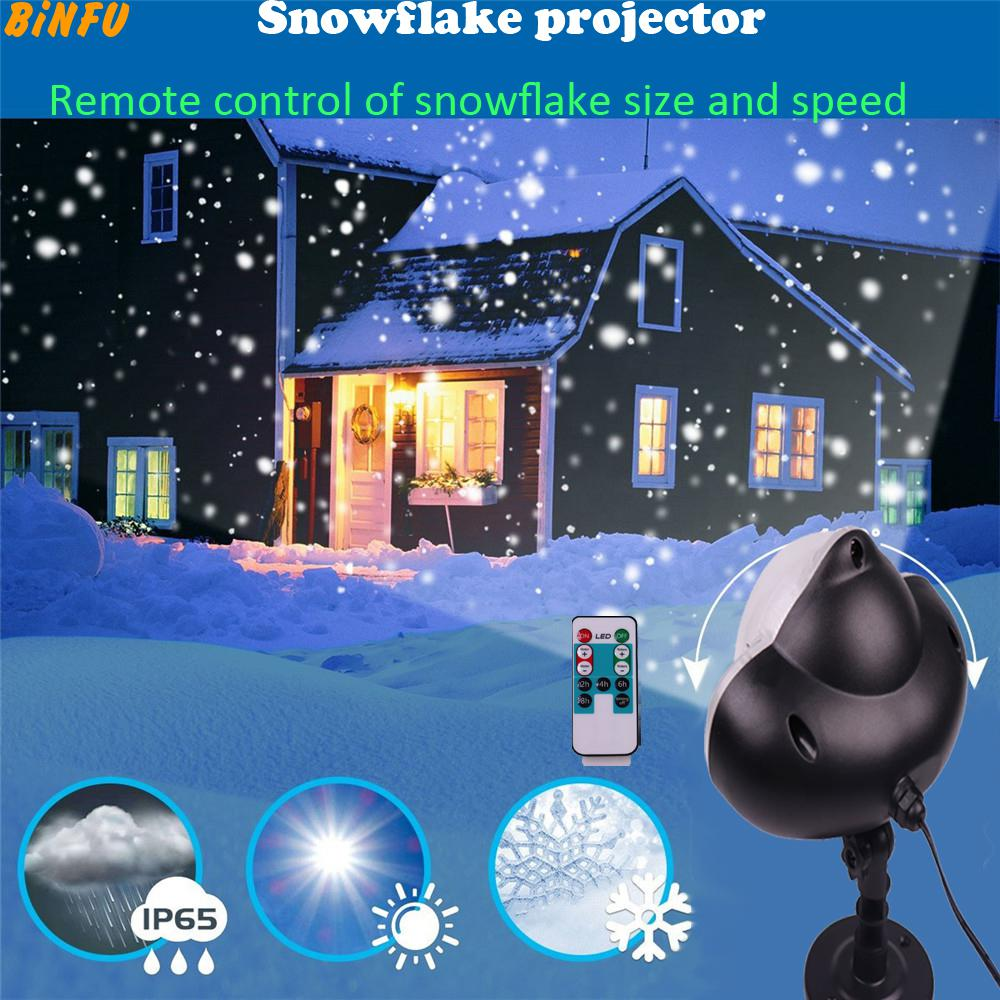 Christmas Snowflake Laser Light Snowfall Projector IP65 Moving Snow Outdoor Garden Laser Projector Lamp For New Year Party ip65 moving snow outdoor garden laser projector lamps outdoor snowfall laser light christmas garden landscape spotlight