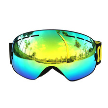 2017 COPOZZ Spherical Sunglasses Ski Goggles Men Women Double UV Anti fog Skiing Snowboard Goggles Cocker