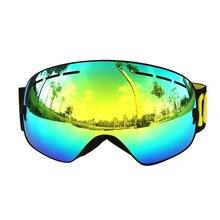 2017 COPOZZ Kuliste Okulary Gogle Narciarskie Mężczyźni Kobiety Pokój Cocker UV Anti-fog Narciarstwo Snowboard Gogle Krótkowzroczność Zawodowych