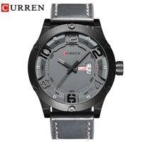 CURREN 2016 New Luxury Brand Relogio Masculino Week Date Leather Men Sports Watches Quartz Clock 8251