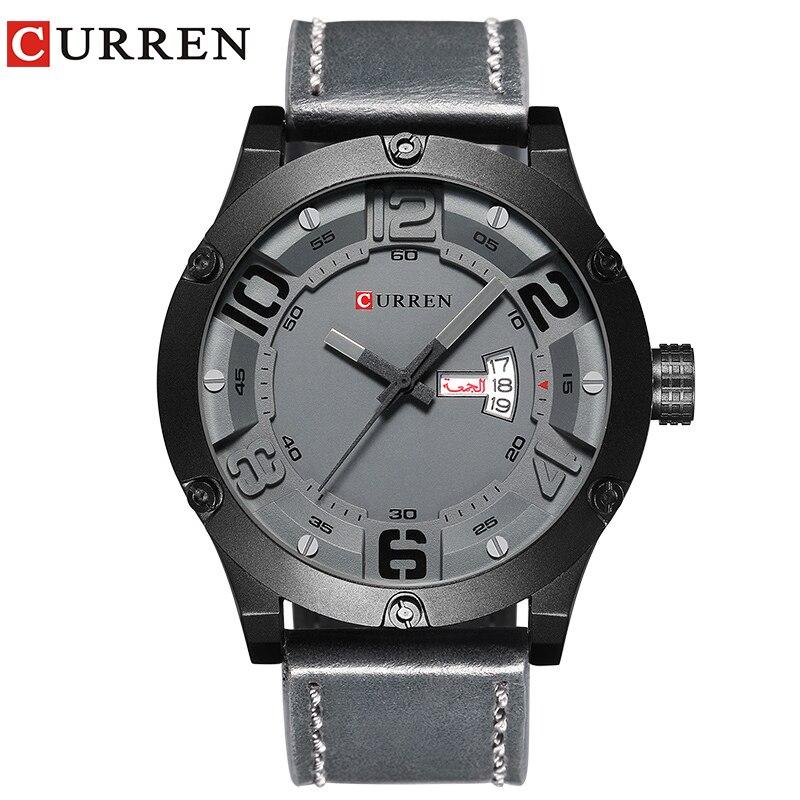 CURREN 2017 mode top neue Luxusmarke Relogio Masculino woche Datum diaplay lederband Männer Sport Uhren Quarzuhr 8251