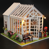 DIY Doll House Miniature Wooden Dollhouse Miniaturas Furniture Toy House Doll Toys for Christmas and Birthday Gift