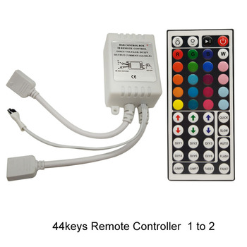 goolook IR 44keys Remote Controller Box Dimmer  RGB 24keys Controller  For 5050 3528 LED strip DC12V Double Door Output