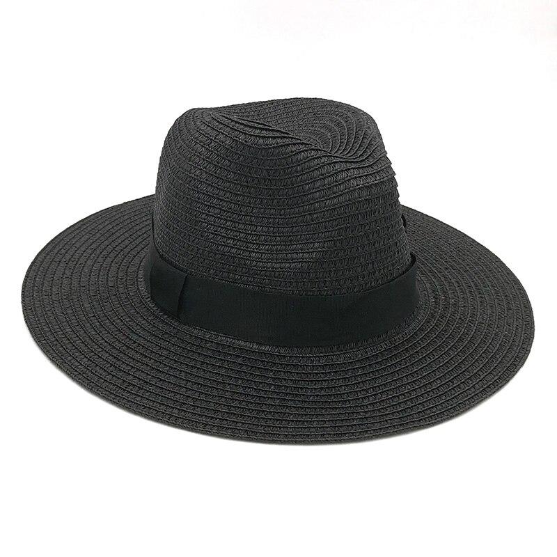 28 Chapeau paille Panama décontracté large bord été