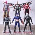 Мстители, фигурки, видение, сокол, Скарлет, ведьма, Bucky Carol Danvers, американская военная машина, Черная пантера, Железный человек, муравей, Hawkeye