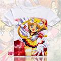 2016 casual mujeres camiseta anime Sailor Moon Sailor Moon impreso digital caliente camiseta chica tela de impresión 3D t-shirt