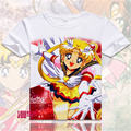 2016 casual mulheres camiseta anime Sailor Moon Sailor Moon digital impresso quente t camisa da menina de pano t-shirt de impressão 3D