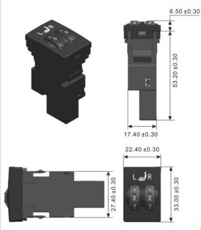 2 sièges siège chauffant swtich fit pour siège chauffage interrupteur en fibre de carbone intérieur original siège couverture chauffage Automobiles 12 v