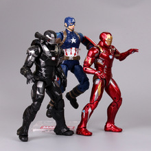 цена на Marvel Miracle Toy Avengers End 30CM Super Hero Panther Spiderman Steel Green Giant Fighter Action Figure Model Gift