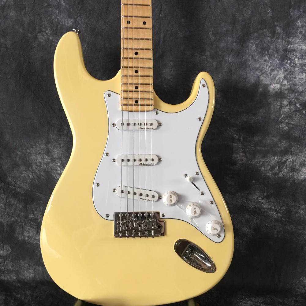 купить The leader of sales is good quality FD ST Yngwie Malmsteen electric guitar serrated fretted variegated body lime standard size по цене 18163.9 рублей