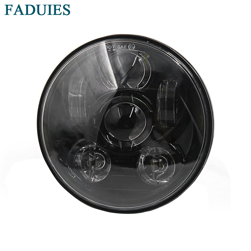 FADUIES Motos Accessories 5.75 headlight motorcycle 5 3/4 led headlight For Harley 5-3/4 Motorcycle Black Projector Daymaker