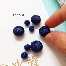 Tanduzi ПВХ имитация фруктов поддельная черника имитация фруктов мини пластиковые детали для декора кукольный домик миниатюрная еда украшения ремесла