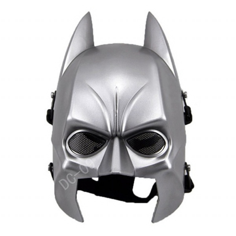 DC09 Batman Skull Full Face Tactical Paintball Airsoft Mask Army Military Hunting Wargame Cosplay Halloween Party Protection