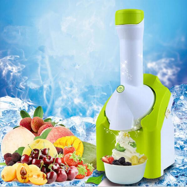 220V Machine Icecream NEW High Quality Mini DIY Fruit Automatic Ice Cream Machine Maker Household For Gift Children 200w edtid ice cream machine household automatic children fruit ice cream ice cream machine barrel cone machine