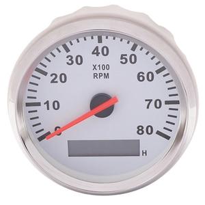 Image 2 - 85mm เรือรถ TACHOMETER, auto มอเตอร์ TACHOMETER สำหรับเครื่องยนต์ดีเซลเบนซินสีแดง 0 9990 RPM 12 V 24 V Lap TIMER เมตร
