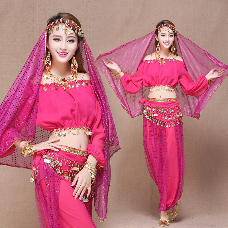 Oriental Belly Dance Costumes Set 7pieces Bollywood Indian
