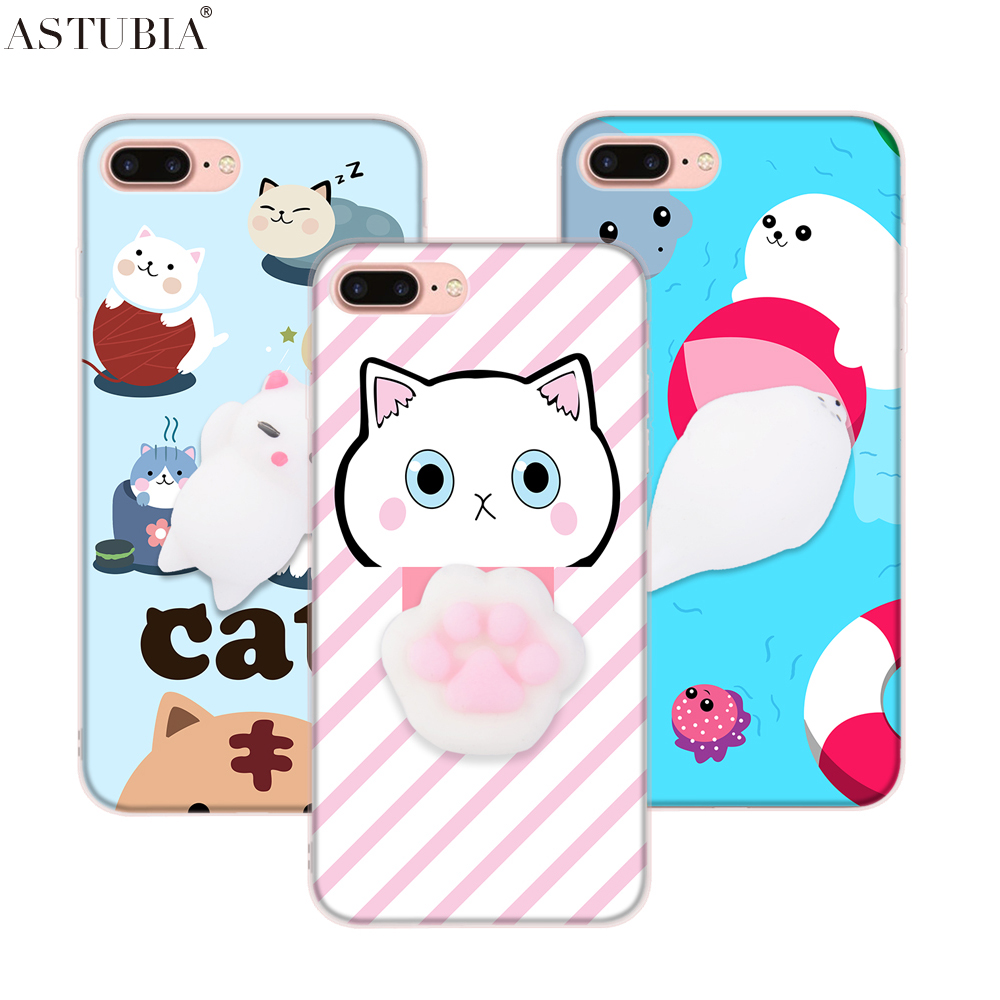 Iphone 6 squishy case - Cartoon Squishy 3d Case For Iphone 6 6s Case Cats Claw Kitty Panda Soft Silicone Back