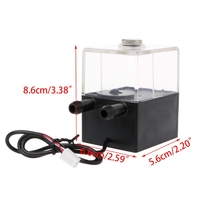 High Quality SC 300T 12V DC Ultra Quiet Water Pump Tank For Pc CPU Liquid Cooling
