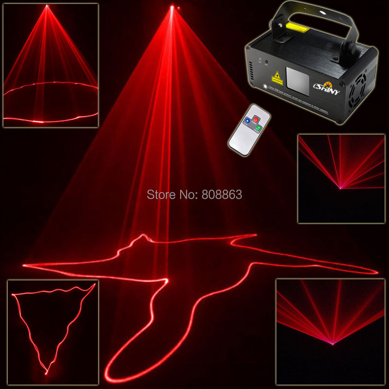 ESHINY Red Lines Scanner Remote DMX512 Sound DJ Dance Bar Xmas Party Disco Lighting Effect Laser Light Stage Lights Show 200 D68