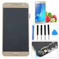 """5.0 """"de ouro para samsung galaxy j5 j500f sm-j500f j5008 display lcd touch screen digitador + moldura do quadro + filme + ferramentas frete grátis"""