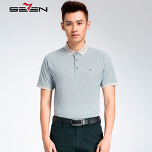 Seven7 Brand  Short Sleeve Summer Men Polo Shirt Fashion Business Casual Polo Shirts Thin Plaid Men Polo Shirts 112T50200