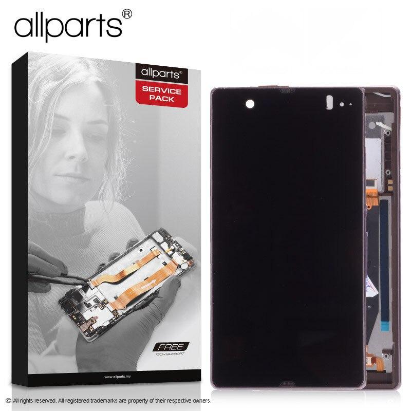 Display LCD ORIGINAL Para SONY Xperia Z Tela Sensível Ao Toque Com Frame Para O SONY Xperia Z LCD Replacment L36H C6603 C6602 c6606