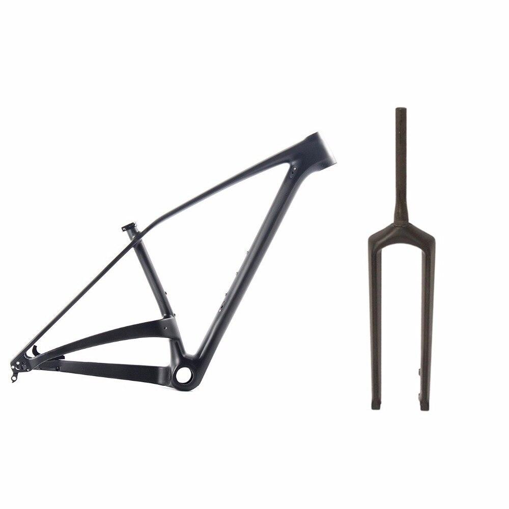 Promotion Cheapest Chinese full carbon toray 29er mountain bike frame 29 inch mtb frame thru axle 148*12mm UD matt BSA