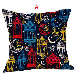 Image 3 - Eid Al Fitr Line Letter Pattern Pillowcases Cover Super soft fabric Home Cushion Throw Bedding Pillow Case Pillow Covers