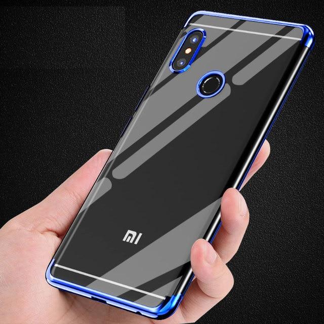 d8b1a3ae3 Xiaomi Redmi Note 5 Pro Case Cover Soft Silicone Silm Plating TPU Back Cover  For Redmi Note5 5Pro Case Anti-knock Phone Coque