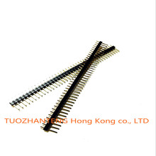 10pcs 40 Pin 1x40 Single Row Male 2.54 Breakable Pin Header Connector Strip for Arduino Black(China (Mainland))