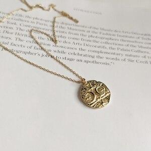 Image 4 - Collar LouLeur con colgante de Estrella de Plata de Ley 925 con forma de Luna, cadena Clavicular Irregular, collar de Color dorado, joyería nueva de moda para mujer