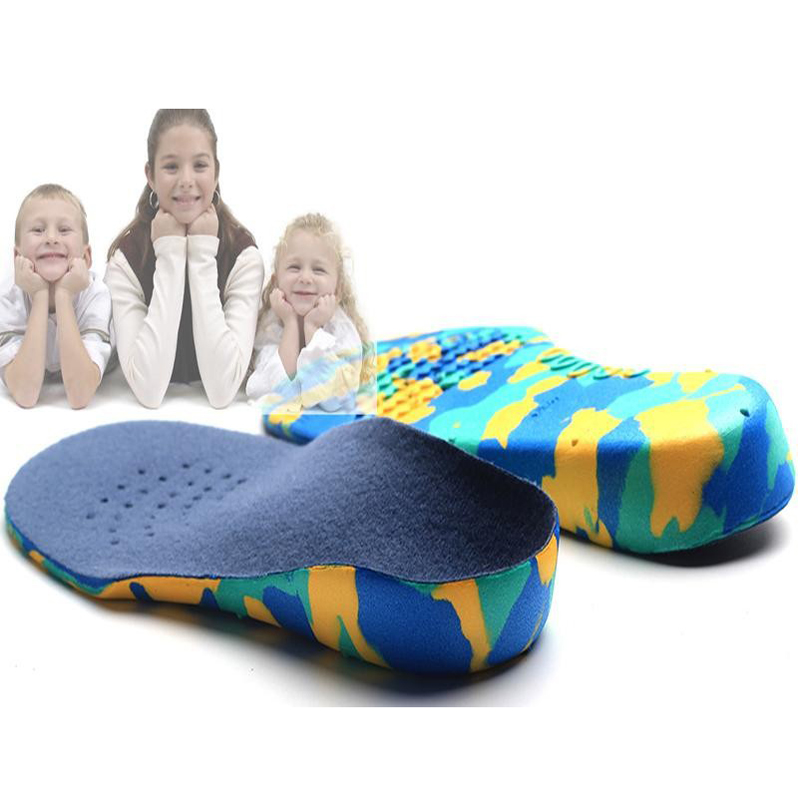 Kids Orthopedic Innersåle Flatfoot Orthotics Kid's EVA Arch Support X-Legs Flat Foot Polio Patienter Fotpleie innleggssåler for barn