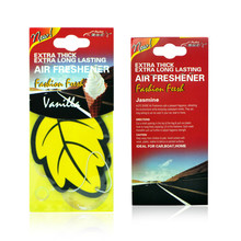 12pcs/lot Auto Shine Paper Hanging Car Air Freshener Vanilla perfumed/fragrance Leaf Shape Free Shipping